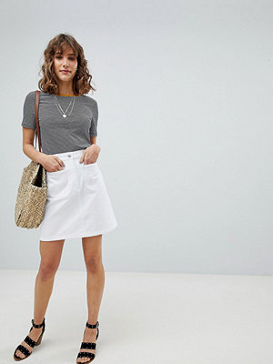 Warehouse Patch Pocket Denim Skirt
