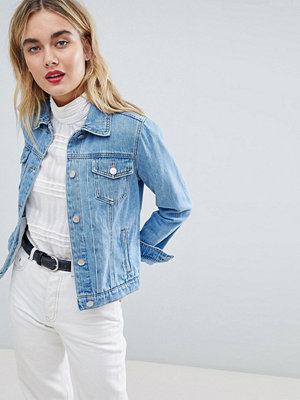 Warehouse Short Denim Jacket - Stone wash