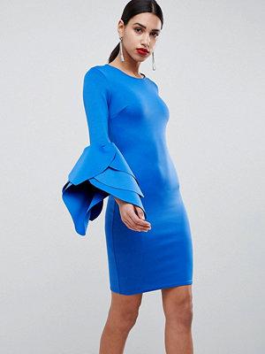 Club L Sleeve Detail Scuba Bodycon Dress - Cobalt