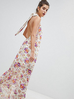 Reclaimed Vintage Inspired High Neck Floral Maxi Dress