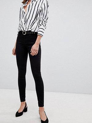 River Island Amelie Svarta skinny jeans med medelhög midja