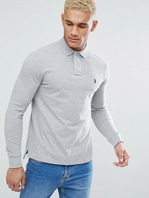 Polo Ralph Lauren Polo Shirt In Grey Custom Regular Fit