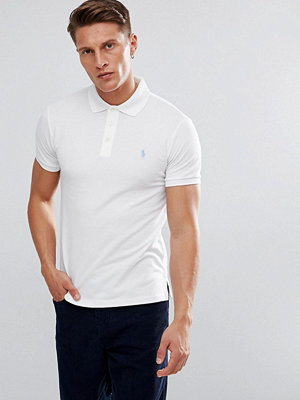 Polo Ralph Lauren Stretch Polo Shirt In White In Slim Fit