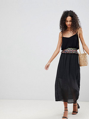Brave Soul Lucas Maxi Skirt With Embroidered Waist Band