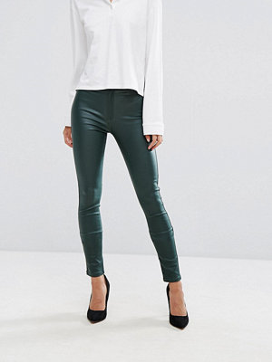 Dr. Denim Solitaire High Rise Skinny Coated Jean - Riot metal