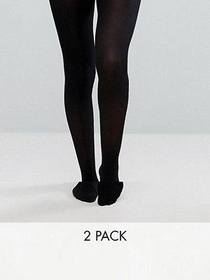 ASOS DESIGN 2-pack strumpbyxor i återvunnen nylon