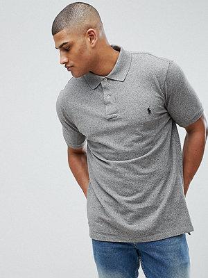 Polo Ralph Lauren Big & Tall Polo Shirt with Logo in Grey Marl - Canterbury heather