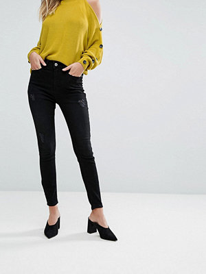 River Island Harper High Waist Skinny Jeans - Balck