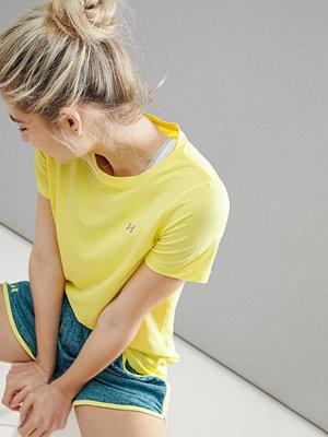 Under Armour Heatgear Citrongul kortärmad t-shirt Tokyo lemon