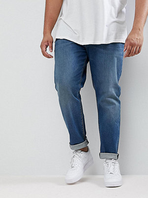 ASOS PLUS Slim Jeans In Mid Wash - Mid wash blue