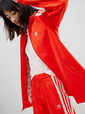 Adidas Originals Track Jacket In Red And Pink