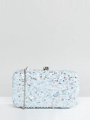 Maya kuvertväska Sequin Clutch Bag - Ice blue