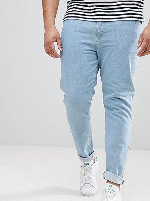 ASOS PLUS Skinny Jeans In Flat Light Wash - Light wash blue
