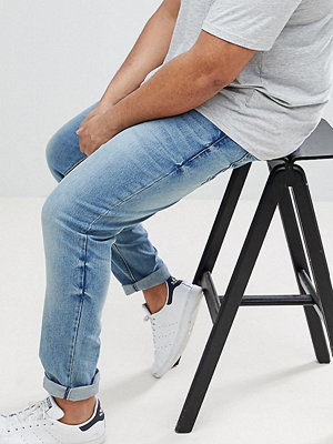 ASOS PLUS Skinny Jeans In Mid Wash - Mid wash blue