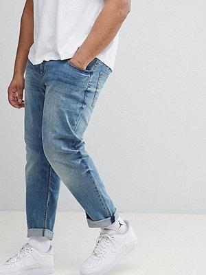 ASOS DESIGN Plus Slim Jeans In Mid Wash - Mid wash blue