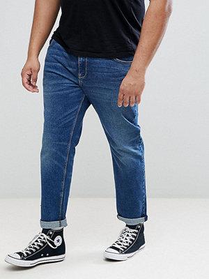 ASOS PLUS Slim Jeans In Dark Wash - Dark wash blue
