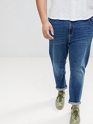 ASOS PLUS Tapered Jeans In Dark Wash - Dark wash blue