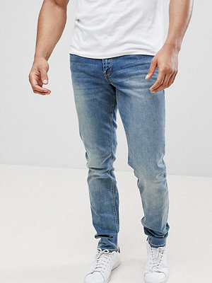 ASOS TALL Slim Jeans In Mid Wash - Mid wash blue