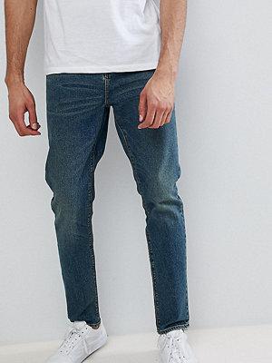 ASOS TALL Tapered Jeans In Vintage Dark Wash - Dark wash vintage