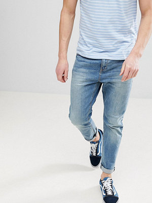 ASOS Tapered Jeans In Mid Wash - Mid wash blue