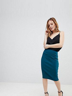 ASOS Petite ASOS DESIGN Petite high waisted pencil skirt - Teal
