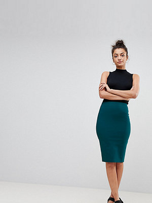 Asos Tall ASOS DESIGN Tall high waisted pencil skirt - Teal