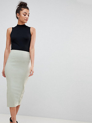 Asos Tall ASOS DESIGN Tall high waisted longerline pencil skirt - Mint