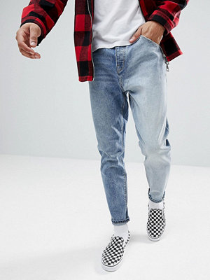 ASOS Tapered Jeans In Two Tone Mid Wash - Mid wash vintage