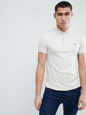 Polo Ralph Lauren Slim Fit Pima Soft Touch Polo Multi Player in Beige Marl