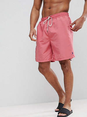 Polo Ralph Lauren Big & Tall Traveller Swim Shorts in Washed Red