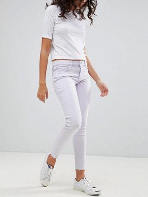 Levis Line 8 Levi's Line 8 Cropped Skinny Jeans med medelhög midja och rå kant L8 claire