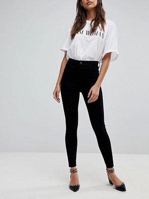 River Island Harper Svarta skinny jeans med hög midja