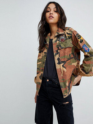 Replay Camo Jacket With Patches