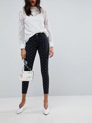 River Island Amelie Stud Detail Skinny Jeans