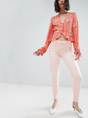 River Island Molly Ljusrosa Skinny Jeans