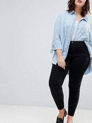 River Island Plus Harper Svarta skinny jeans med hög midja