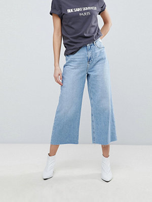 River Island Crop Wide Leg Authentic Wash Jeans - Mid auth
