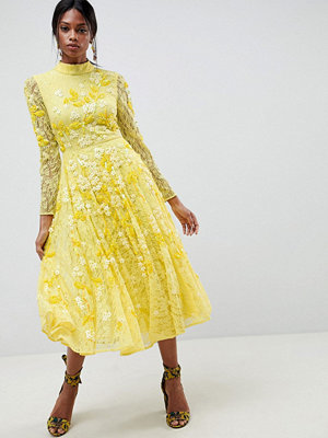 ASOS Edition All Over Lace Embellished Midi Dress