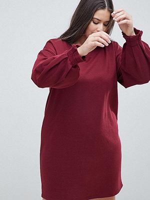 ASOS Curve ASOS DESIGN Curve sweat dress with pleated cuff