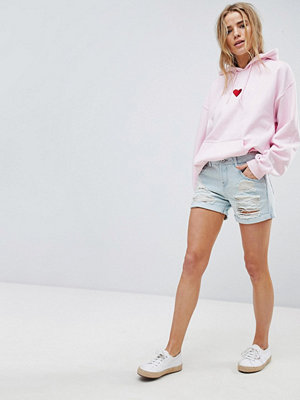 Superdry Jeansshorts i boyfriend-modell Semesterblå
