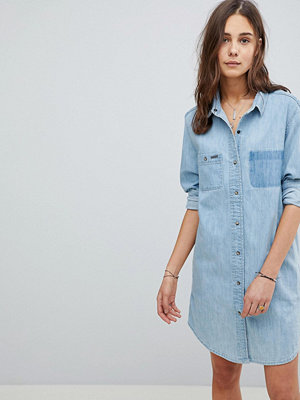 Superdry Oversize Denim Dress - Pacific blue