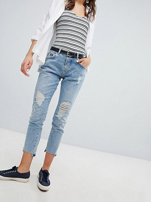 Superdry Riley Jeans i girlfriend-modell Cove blue