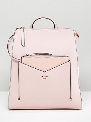 Dune ryggsäck Backpack in Dusty Pink with Detachable Front Purse