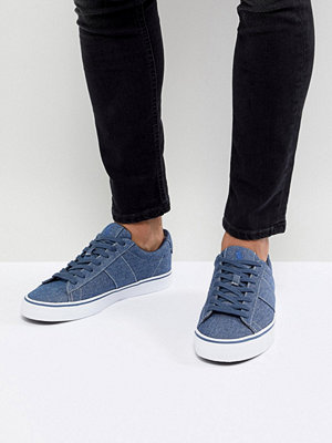 Polo Ralph Lauren Sayer Chambray Trainers in Mid Blue - Indigo