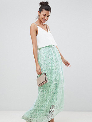 Asos Tall ASOS DESIGN Tall lace maxi prom skirt - Mint