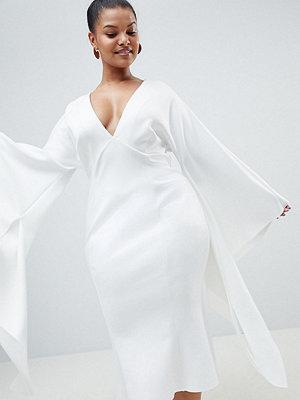 ASOS Curve ASOS DESIGN Curve premium extreme kimono sleeve scuba midi Bodycon dress