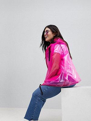 ASOS Curve ASOS DESIGN Curve Rain Jacket With Contrast Binding