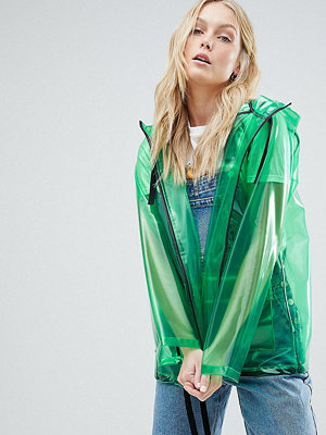 Asos Tall ASOS DESIGN Tall Rain Jacket With Contrast Binding
