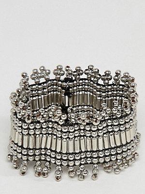ASOS Curve armband ASOS DESIGN Curve Exclusive Burnished Bead Stretch Bracelet