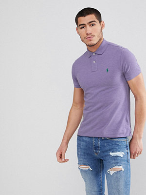 Polo Ralph Lauren Slim Fit Pique Polo in Lilac Marl - New lilac heather